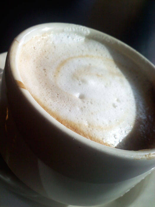 Cafe latte at Paravicini's, Old Colorado City, Colorado Springs