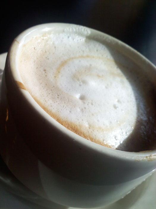 Cafe latte at Paravicini's, Old Colorado City, Colorado Springs