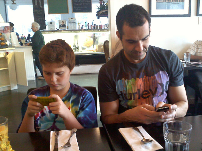 Very exciting conversation at lunch- Recess Eatery, Glendale, CA