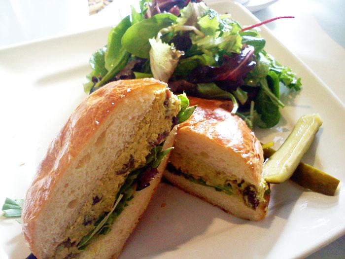Chicken curry sandwich at Elements Kitchen Cafe in Pasadena, CA