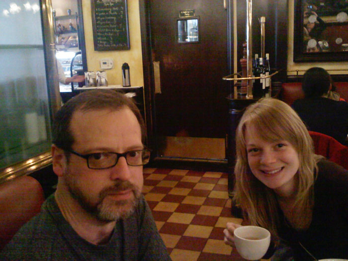 Mike and Tori at Cafe Figaro, Los Angeles, CA
