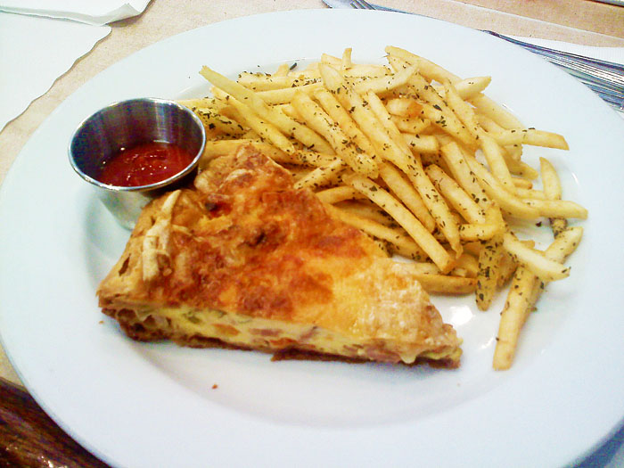 Quiche and french fries, Cafe Midi, Los Angeles, CA