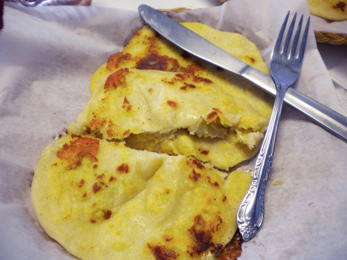 Cheese pupusas from El Poblano, Colorado Springs