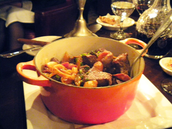 Beef bourguignon from Cafe Figaro, Los Angeles, CA