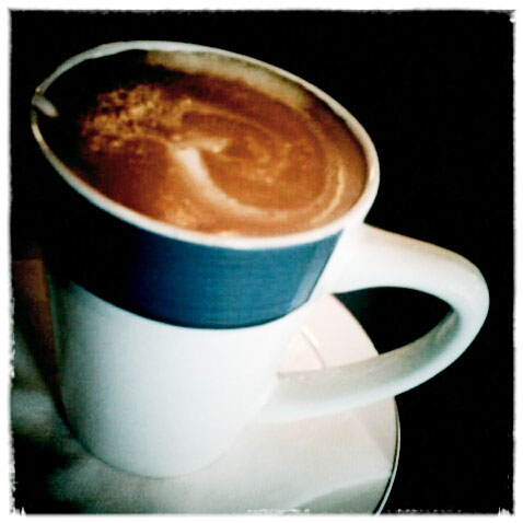A latte from Shuga's, Colorado Springs