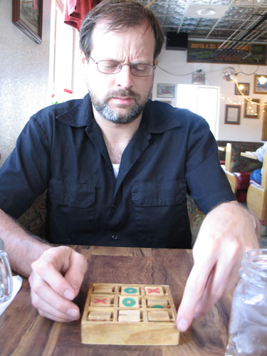 Mike playing a game at The Depot in Palmer Lake, CO