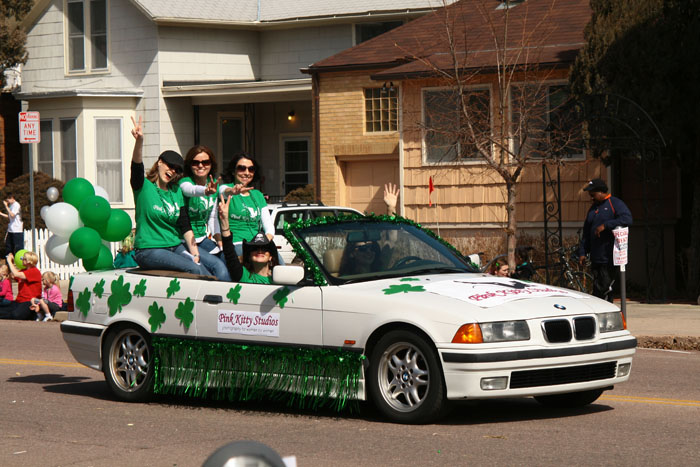 Pink Kitty Studios in the St. Patrick's Day Parade 2010
