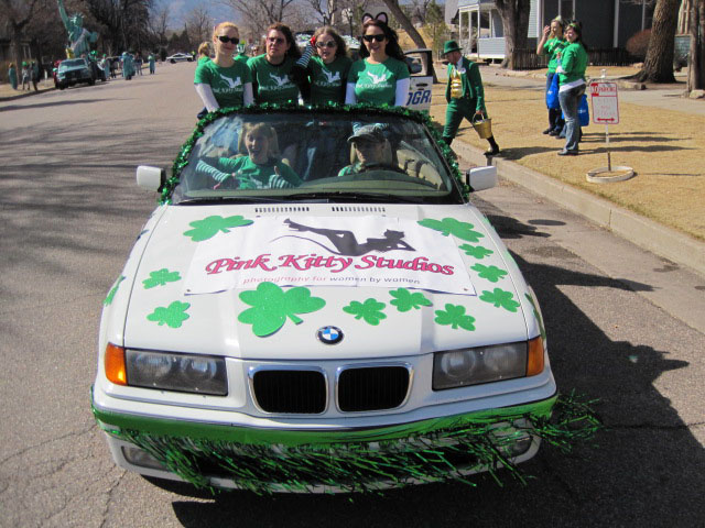 Setting out to be in the 28th Annual Colorado Springs St. Patrick's Day Parade, 2011