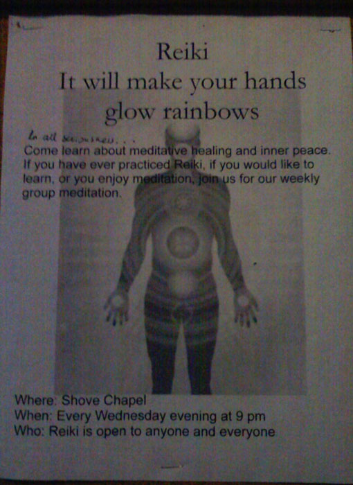 Maybe you would like to make your hands glow rainbows. You can do that at Shrove Memorial Chapel.