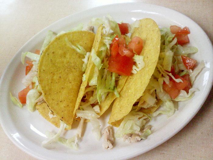 Chicken Tacos from Vallejo's, Colorado Springs