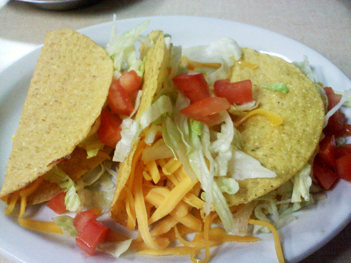Cheese tacos from Vallejo's, Colorado Springs