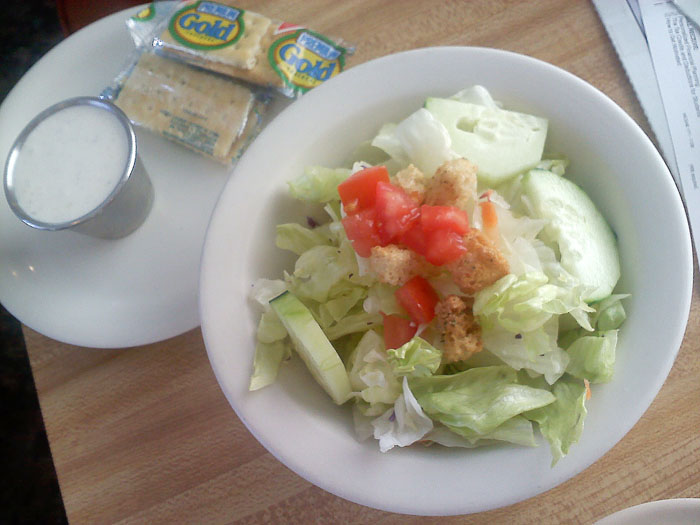 Dinner salad, Detz Cafe, downtown Colorado Springs.
