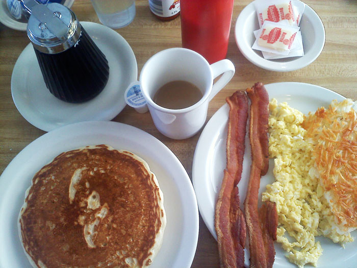 The Early Riser breakfast at Detz Cafe, downtown Colorado Springs.