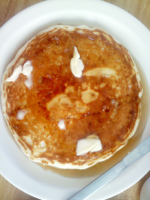 Pancakes, Detz Cafe, downtown Colorado Springs.