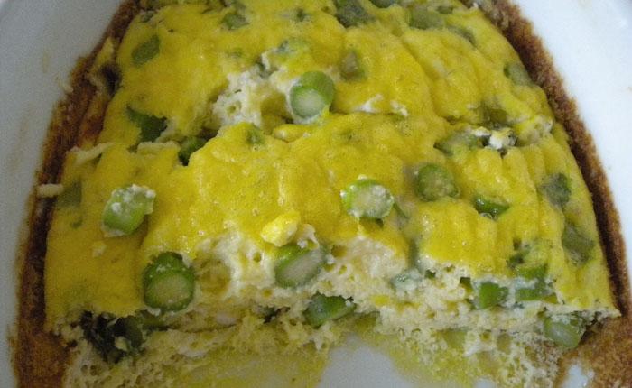 Fritatta with asparagus.