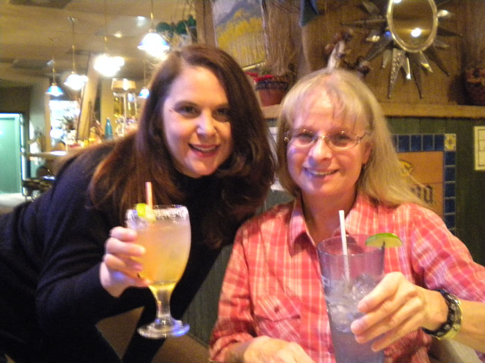 Linda and me getting our drink on. Actually she's just having water.
