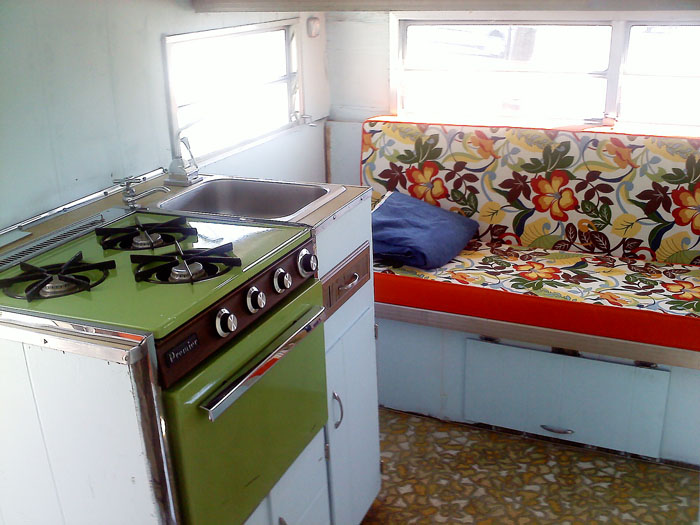 The interior of our trailer