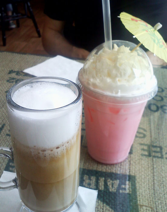 8 oz. cafe latte and Italian cream soda from Gold Hill Java, downtown Colorado Springs