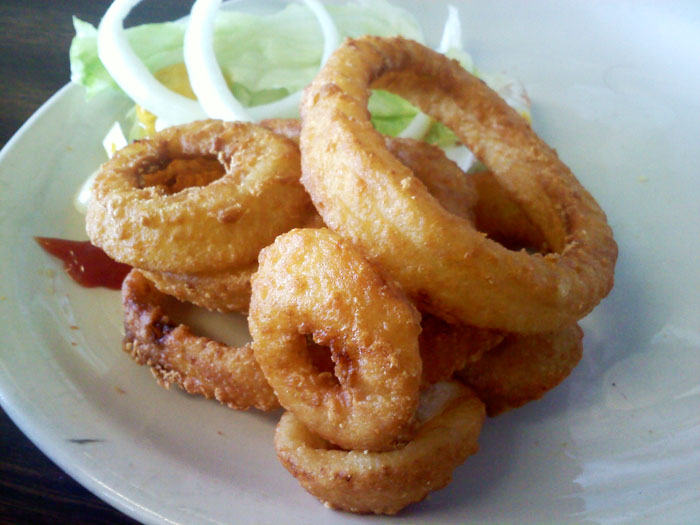 Yummy onion rings from My Sister's Kitchen