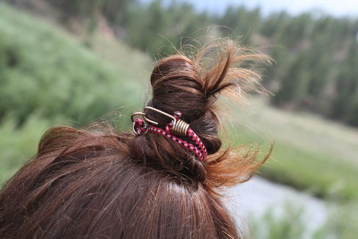 Bungee cord hair tie