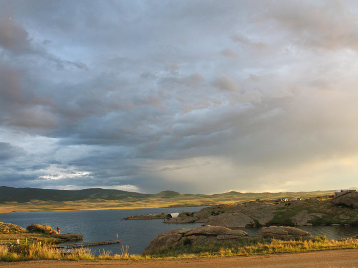 Elevenmile Reservoir campground, Colorado