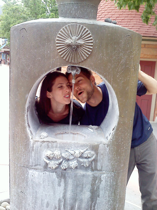 In June my cousin Erica and her boyfriend Teddy stayed overnight on their way across the country. They enjoyed the odd tasting water in all the Manitou springs.