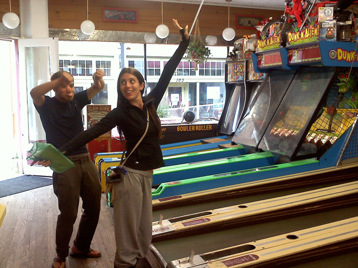 We played Ski-Ball at the vintage arcade in Manitou.
