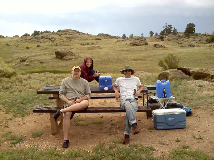 We all went camping at ElevenMile.