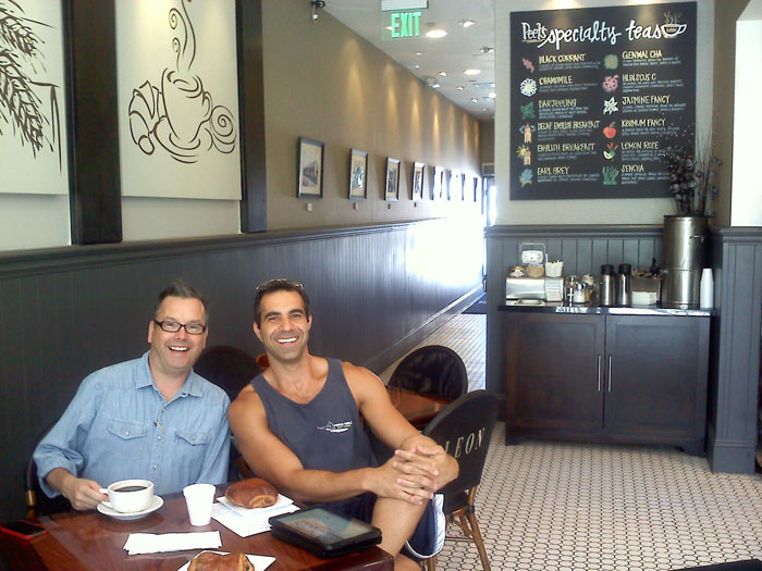 I've heard so much about Cafe Leon in Montrose (Glendale), CA from Jeffery- so we met him there for breakfast.