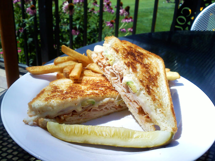 I had the turkey avocado melt. It came with tasty fries and a pickle. I liked it a lot!