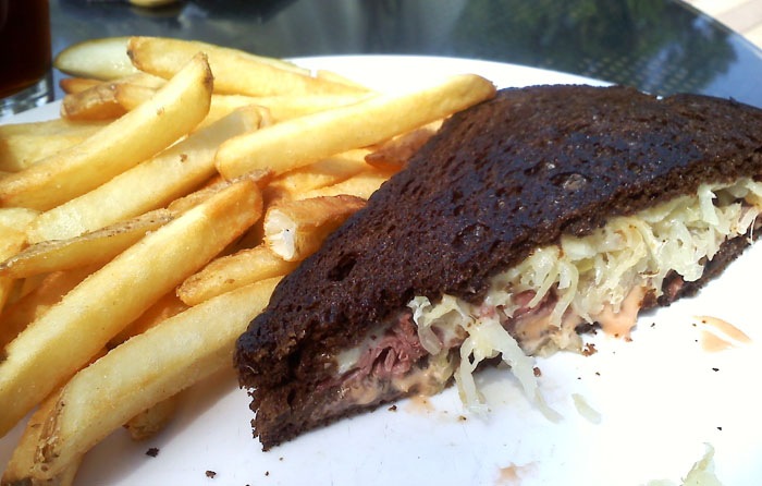 Mike had the Rueben- it wasn't piled high like a lot of times they are. But for $6.95, I thought it was ok.