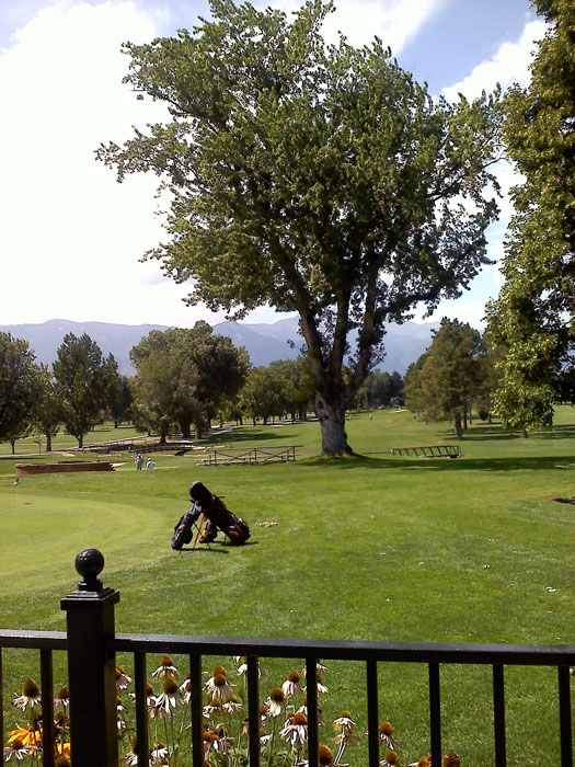 Another view of the golf course from the patio.