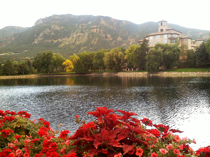 Then we went to The Broadmoor and had cocktails by the lake at sunset.