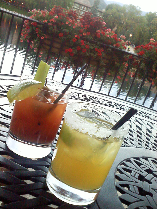 Bloody Mary and Margarita at The Broadmoor.