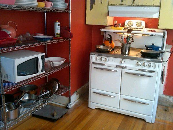 Making progress on the temporary kitchen.