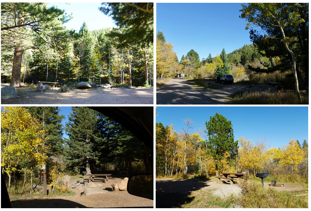 Some of the campsites at St. Charles Campground, Colorado