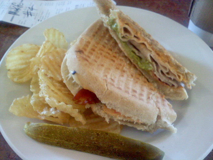 The turkey avocado melt at Dogtooth Coffee Company, Colorado Springs