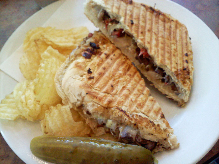 The Magnificent 7 (vegetarian) sandwich at Dogtooth Coffee Company, Colorado Springs