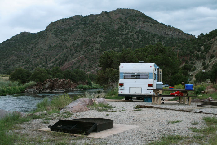 Camping at Rincon Campground, Colorado