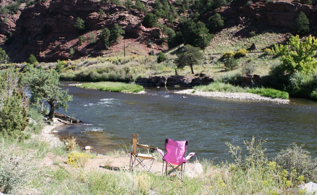 Morning on The Arkansas River at Rincon Campground, Colorado