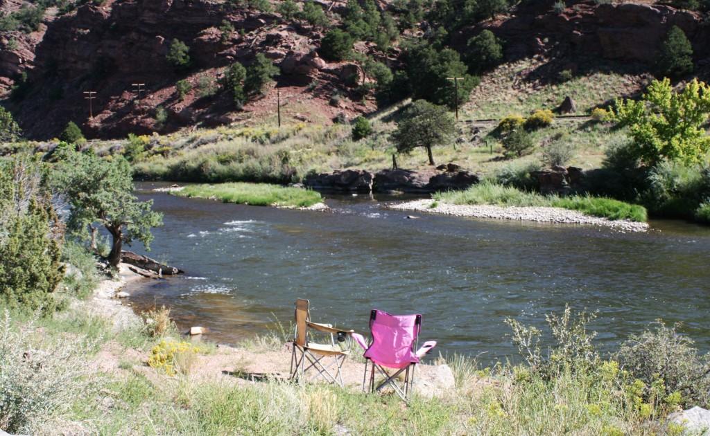Morning on The Arkansas River at Rincon Campground, Colorado