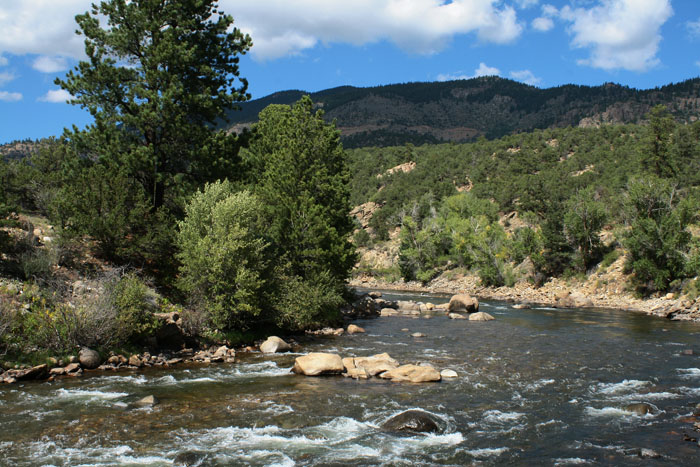 Railroad Bridge campground is on the Arkansas River away from any major roads