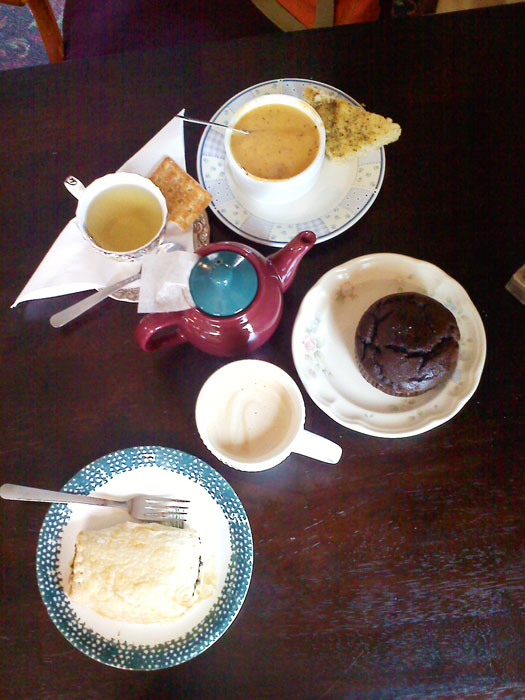 Assorted espressos, teas, and snacks. Something for everyone at Montague's.