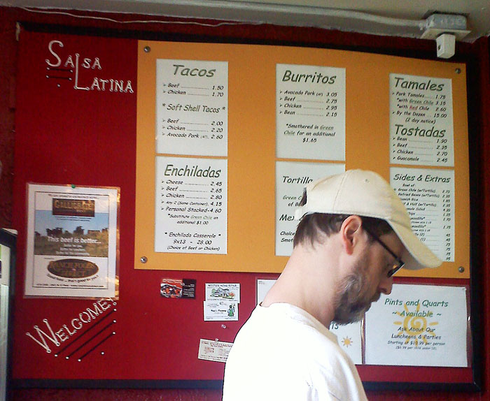 Salsa Latina has all the usual dishes and good prices.