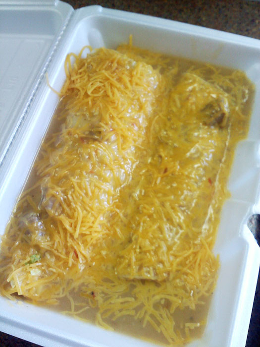 Mike had enchiladas this time!