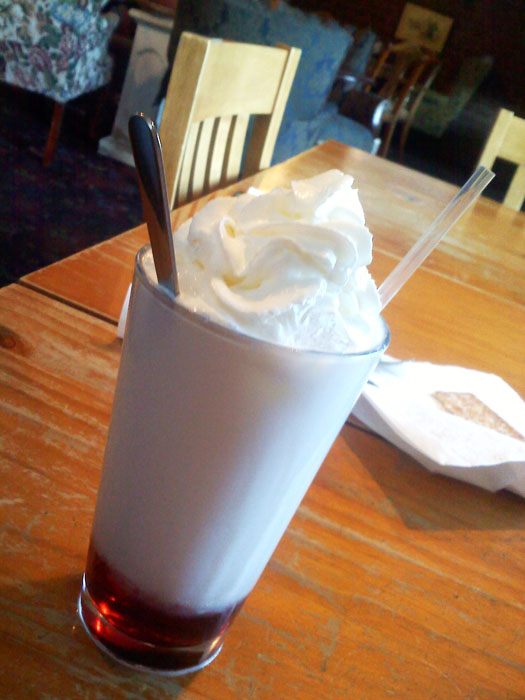 Lots of different drinks, too. This is an Italian cream soda.