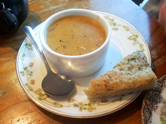 Cream of Broccoli soup at Montague's Parlour