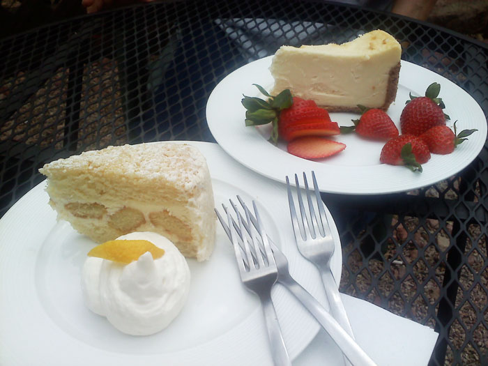 Lemon cake and cheesecake from Cucuru- yum!