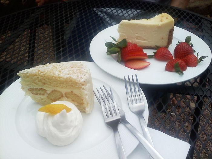 Lemon cake and cheesecake from Cucuru- yum!