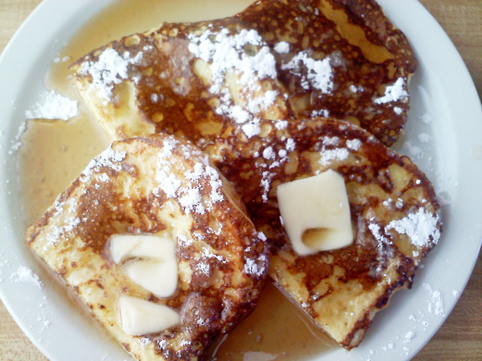 Perfect french toast from Detz Cafe